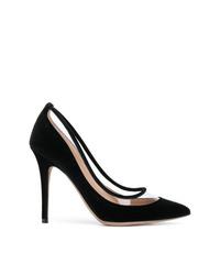 Zapatos de tacón de ante negros de Valentino