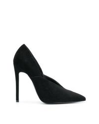 Zapatos de tacón de ante negros de Victoria Beckham