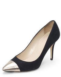 Zapatos de tacón de ante plateados