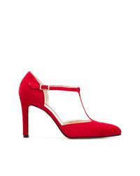 Zapatos de tacón de ante rojos de Antonio Barbato