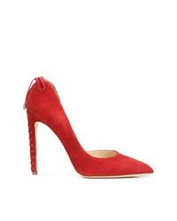 Zapatos de tacón de ante rojos de Chloe Gosselin