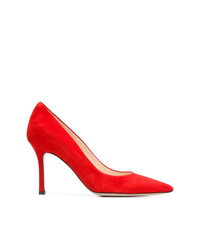 Zapatos de tacón de ante rojos de Marc Ellis