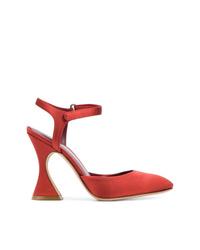 Zapatos de tacón de ante rojos de Sies Marjan