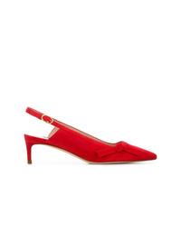 Zapatos de tacón de ante rojos de Stuart Weitzman