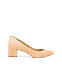 Zapatos de tacón de ante rosados de Chloé