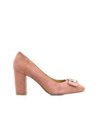Zapatos de tacón de ante rosados de Michael Kors