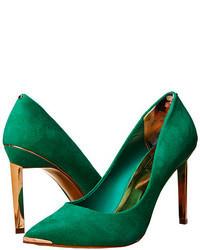 Zapatos de tacón de ante verdes