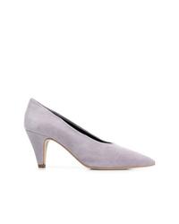 Zapatos de tacón de ante violeta claro de Rebecca Minkoff