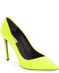 Zapatos de Tacón de Cuero Amarillo Verdoso de Balenciaga
