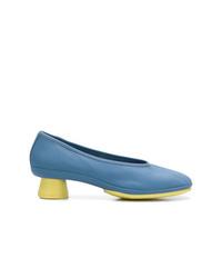 Zapatos de tacón de cuero azules de Camper