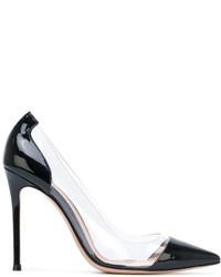 Zapatos de tacón de cuero azules de Gianvito Rossi