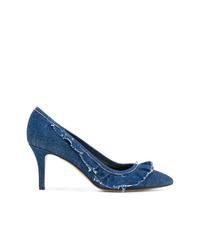 Zapatos de tacón de cuero azules de Isabel Marant