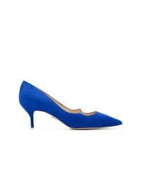 Zapatos de tacón de cuero azules de Paul Andrew