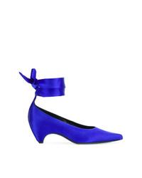 Zapatos de tacón de cuero azules de Stella McCartney