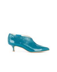 Zapatos de tacón de cuero azules de Tibi