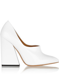 Zapatos de tacón de cuero blancos de Acne Studios