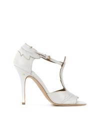 Zapatos de tacón de cuero blancos de Laurence Dacade