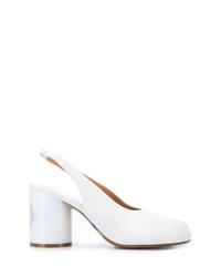 Zapatos de tacón de cuero blancos de Maison Margiela