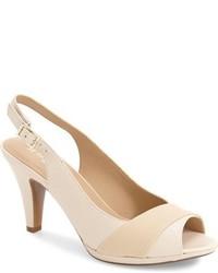 Zapatos de Tacón de Cuero Blancos de Naturalizer