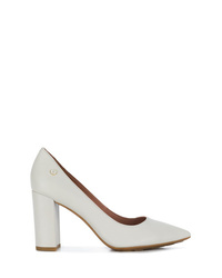 Zapatos de tacón de cuero blancos de Tommy Hilfiger