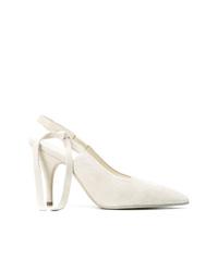 Zapatos de tacón de cuero blancos de Victoria Beckham