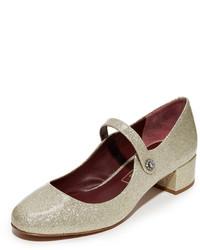 Zapatos de tacón de cuero burdeos de Marc Jacobs
