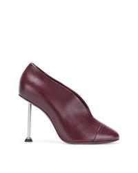 Zapatos de tacón de cuero burdeos de Victoria Beckham