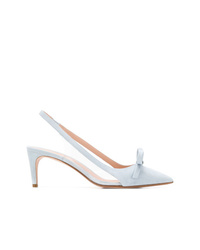 Zapatos de tacón de cuero celestes de RED Valentino