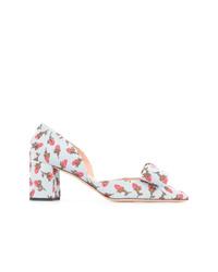 Zapatos de tacón de cuero celestes de Rochas