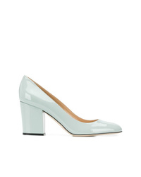 Zapatos de tacón de cuero celestes de Sergio Rossi