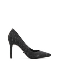 Zapatos de tacón de cuero con adornos negros de MICHAEL Michael Kors