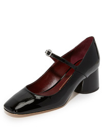 Zapatos de tacón de cuero con recorte negros de Marc Jacobs