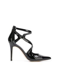 Zapatos de tacón de cuero con recorte negros de MICHAEL Michael Kors