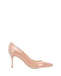 Zapatos de tacón de cuero en beige de Sergio Rossi