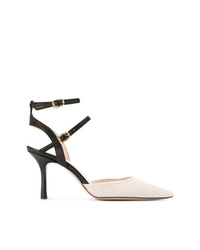 Zapatos de tacón de cuero en blanco y negro de Marc Ellis