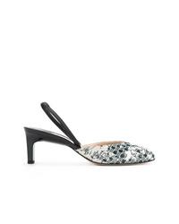 Zapatos de tacón de cuero en blanco y negro de Paul Andrew