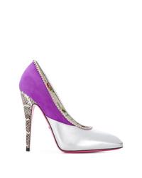 Zapatos de tacón de cuero en multicolor de Gucci