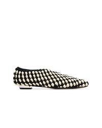 Zapatos de tacón de cuero en negro y blanco de Proenza Schouler