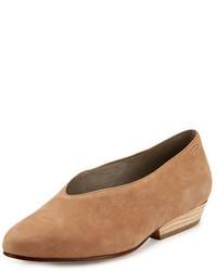 Zapatos de tacón de cuero en tabaco de Eileen Fisher