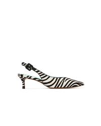 Zapatos de tacón de cuero estampados en negro y blanco de Blue Bird Shoes