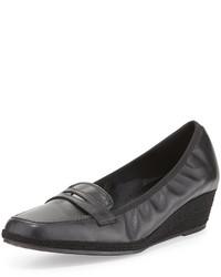 Zapatos de Tacón de Cuero Gris Oscuro de Sesto Meucci