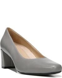 Zapatos de Tacón de Cuero Grises de Naturalizer