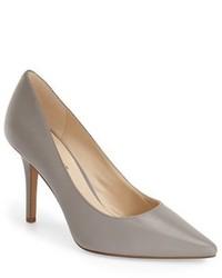 Zapatos de Tacón de Cuero Grises de Nine West
