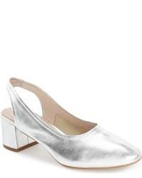 Zapatos de Tacón de Cuero Grises de Topshop