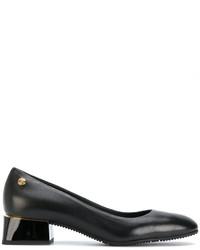 Zapatos de tacón de cuero gruesos negros de Baldinini