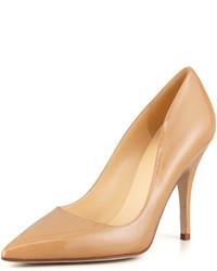Zapatos de Tacón de Cuero Marrón Claro de Kate Spade