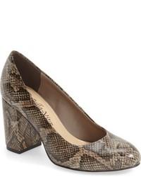 Zapatos de Tacón de Cuero Marrónes de Bella Vita