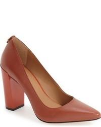 Zapatos de Tacón de Cuero Marrónes de Calvin Klein
