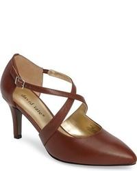 Zapatos de Tacón de Cuero Marrónes de David Tate