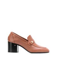 Zapatos de tacón de cuero marrónes de Laurence Dacade